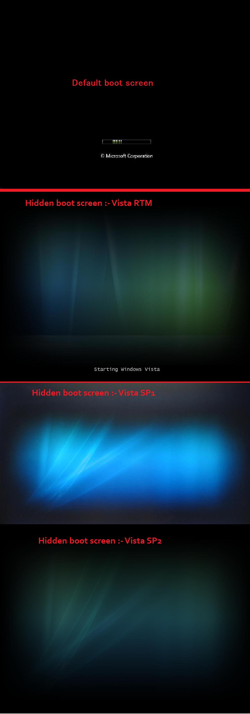 Windows Vista Hidden Aurora Boot Screen By I Use