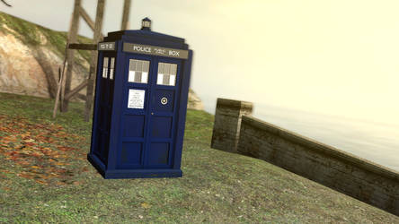 Tardis at the coast by tannerthecat1996