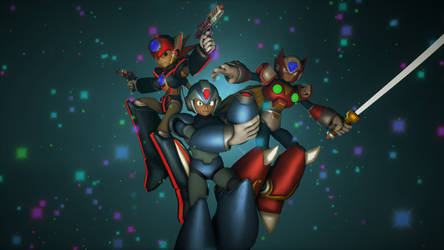 X, Zero and Axl by tannerthecat1996