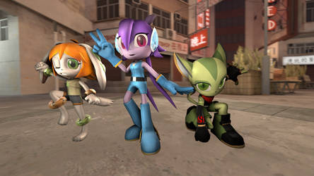 Freedom Planet Trio by tannerthecat1996