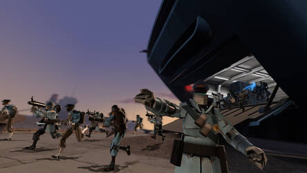 Robot army charge by tannerthecat1996