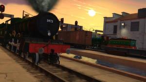 Idling in the railyard
