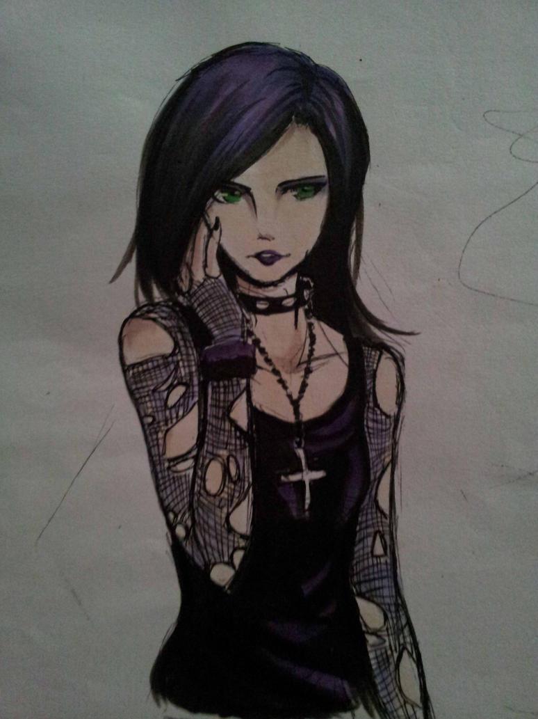 Random Goth Girl By Xlunaticxz On Deviantart