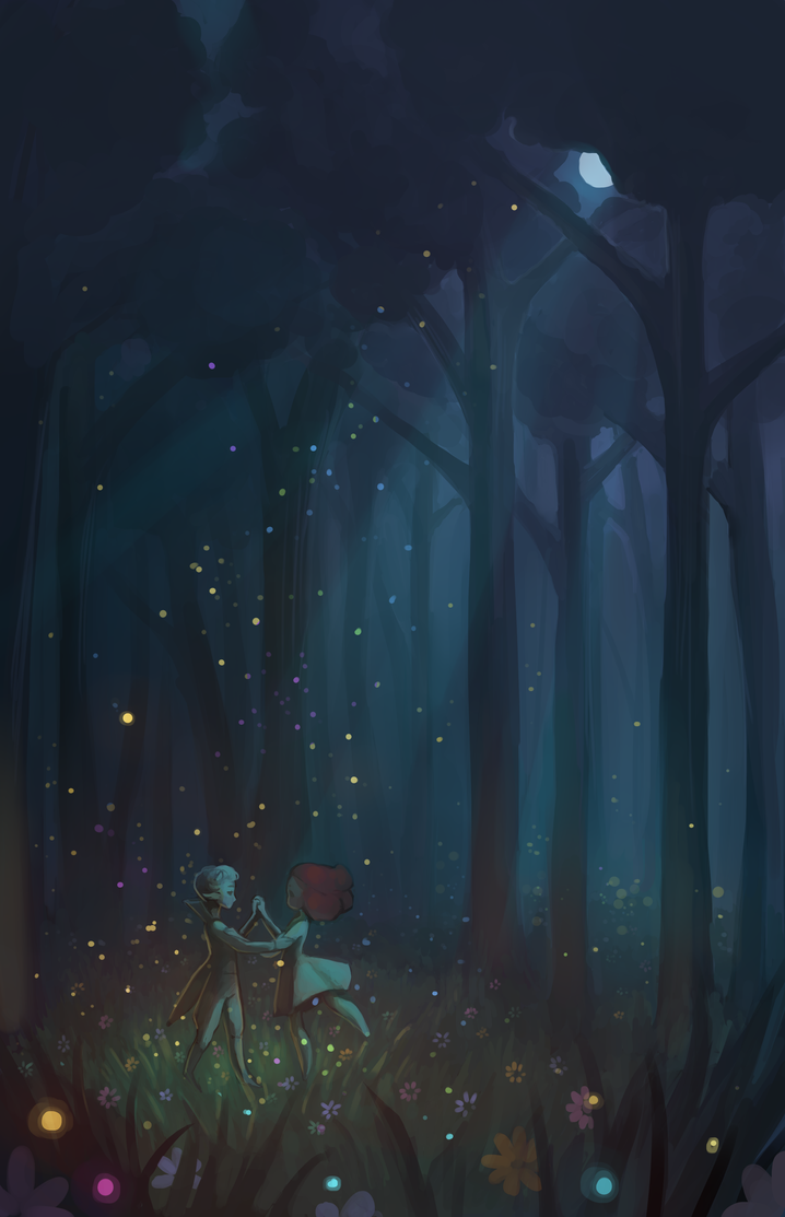 Dance in the forest by xLunatiCXz