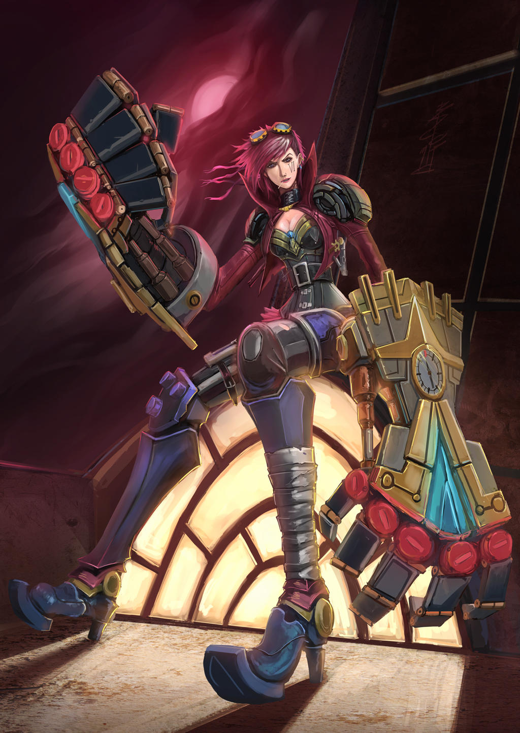 Vi - League of Legends by BADCOMPZERO on DeviantArt