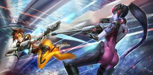 Overwatch Tracer X Widow by BADCOMPZERO
