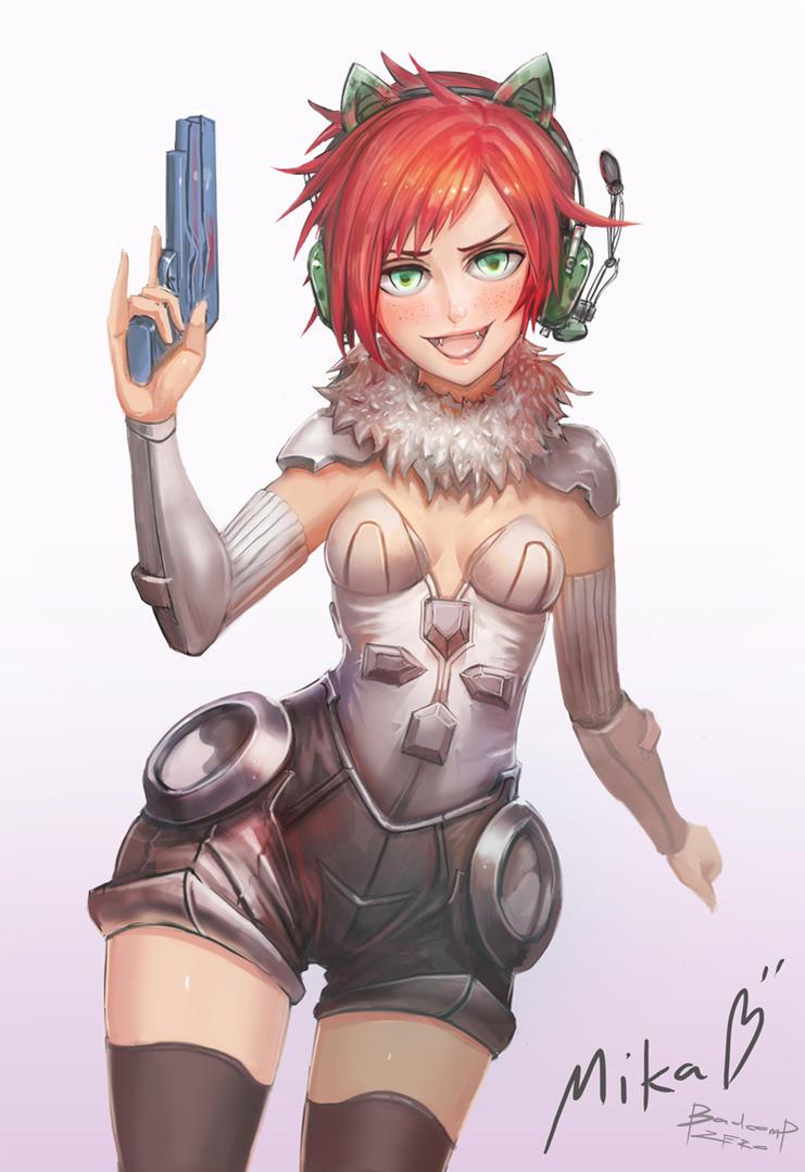 Gamergirl Mika by BADCOMPZERO