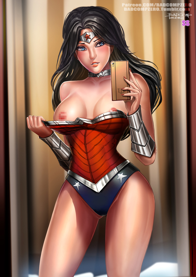 Wonder woman Flashing selfie by BADCOMPZERO