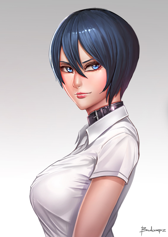 A short Hair girl by BADCOMPZERO