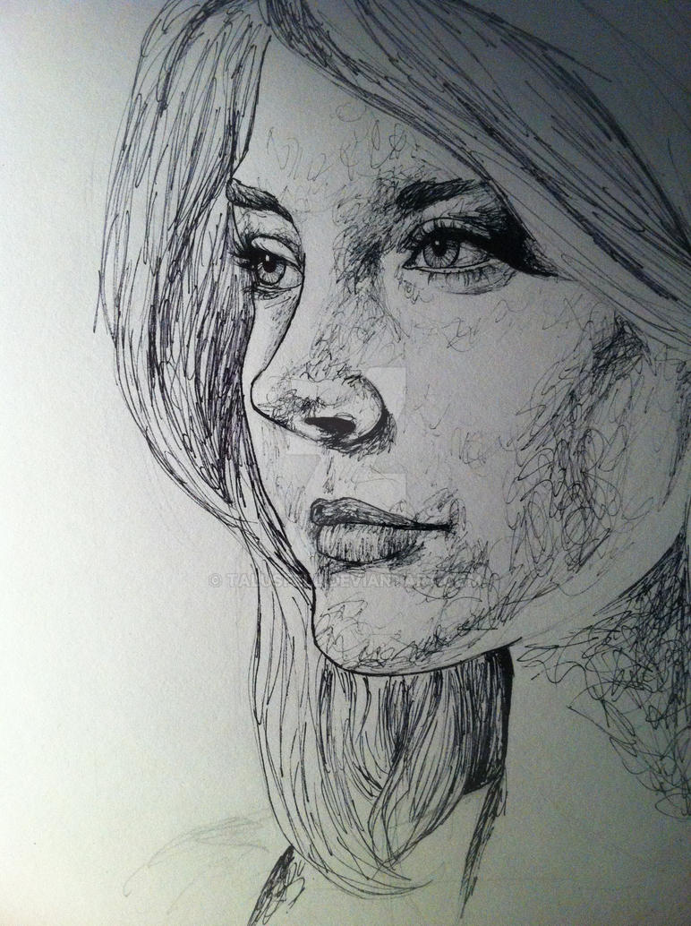 Natalie in Pen by TalusFell