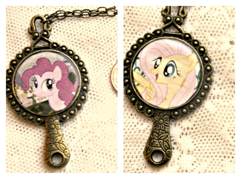 My little pony fluttershy and pinkie pie necklace by elllenjean on my little pony fluttershy and pinkie pie necklace by elllenjean aloadofball Gallery