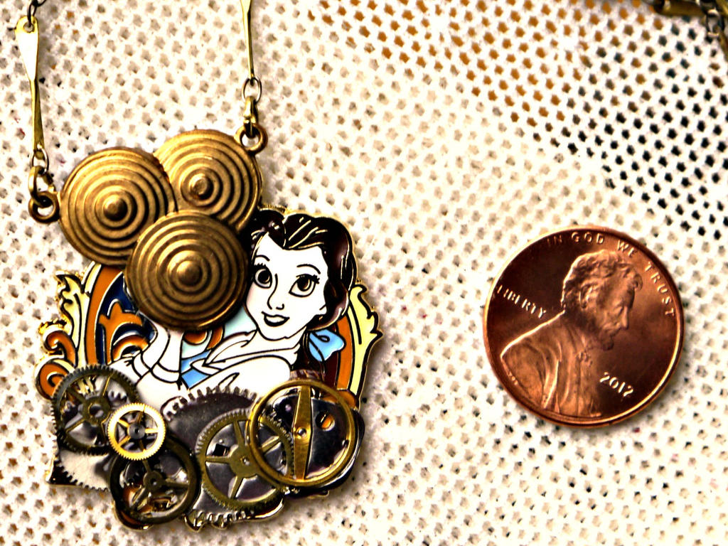 Disney beauty and the beast belle necklace by elllenjean for Disney beauty and the beast jewelry