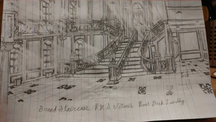 Titanic Grand Staircase Quickdraw by Cleptrophese