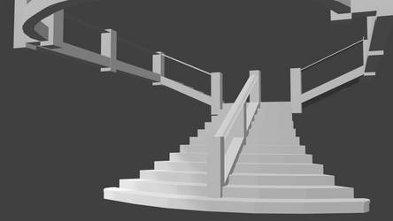 Titanic Grand Staircase Model (Cycles Render 2) by Cleptrophese