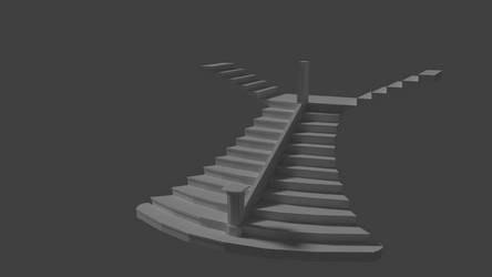 Titanic Grand Staircase Model (Cycles Render 3) by Cleptrophese