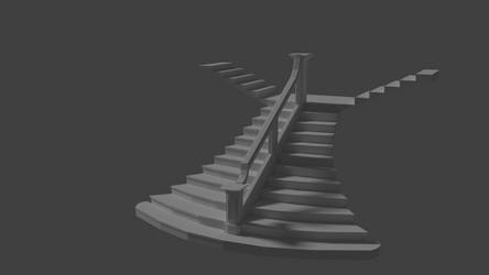Titanic Grand Staircase Model (Cycles Render 4) by Cleptrophese