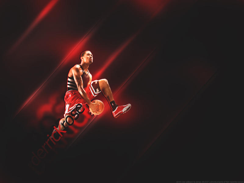 derrick rose wallpaper black and white. 2010 derrick rose wallpaper