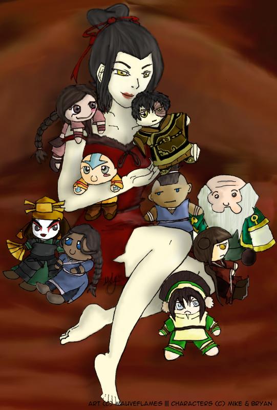 atla azula loves dolls by blamedorange on deviantart