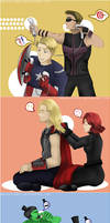 Avengers : Just Chillin by blamedorange
