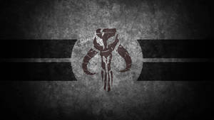 Mandalorian Skull Desktop Wallpaper