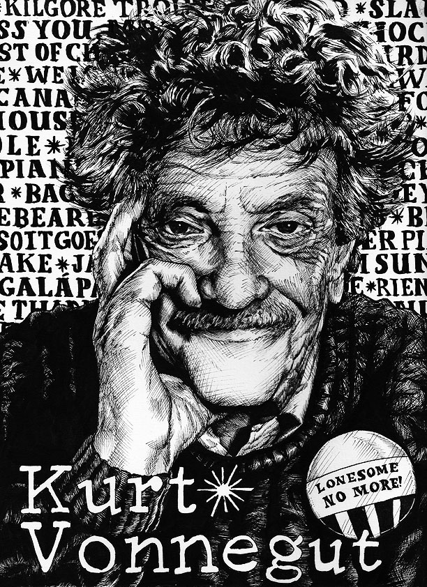 Kurt Vonnegut by magnetic-eye