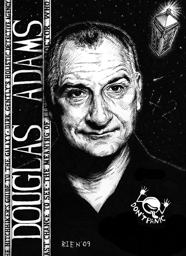 Douglas Adams by magnetic-eye