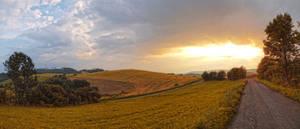 Field panorama stock 2 by FrantisekSpurny