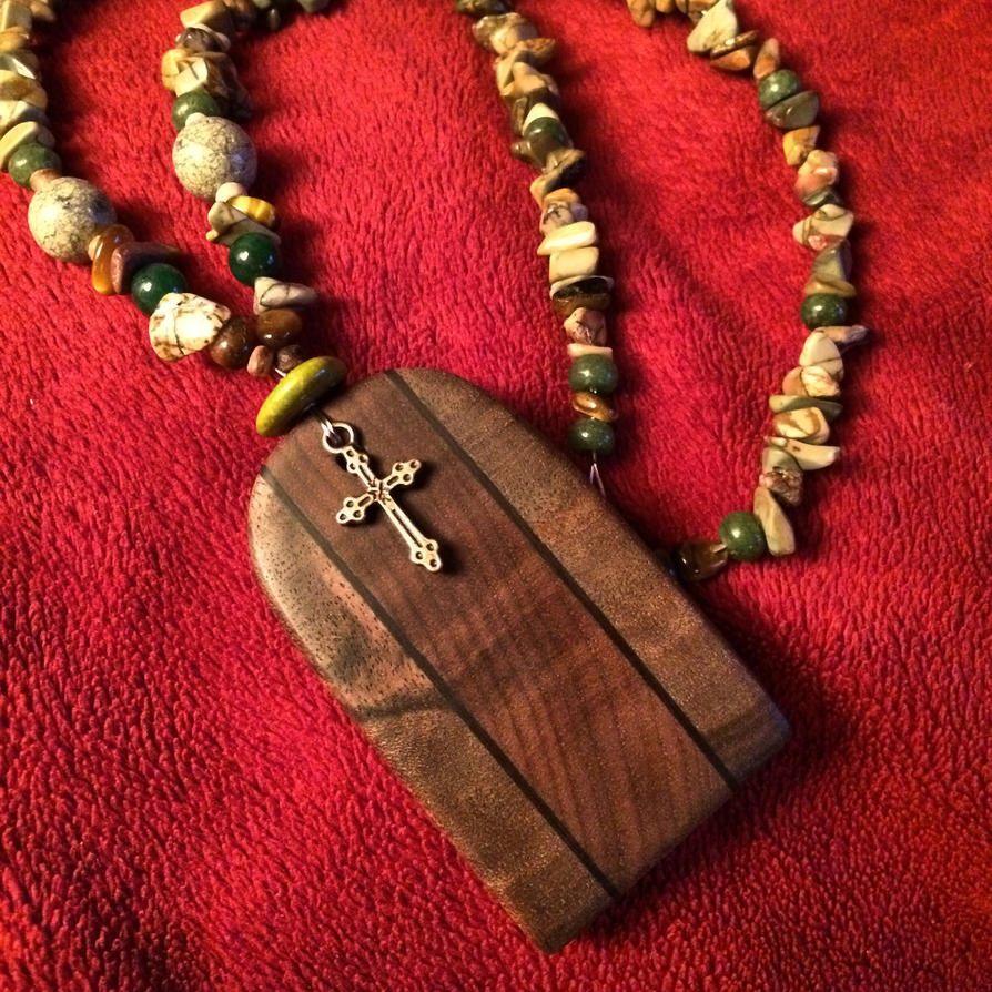 Walnut necklace by krystledawn