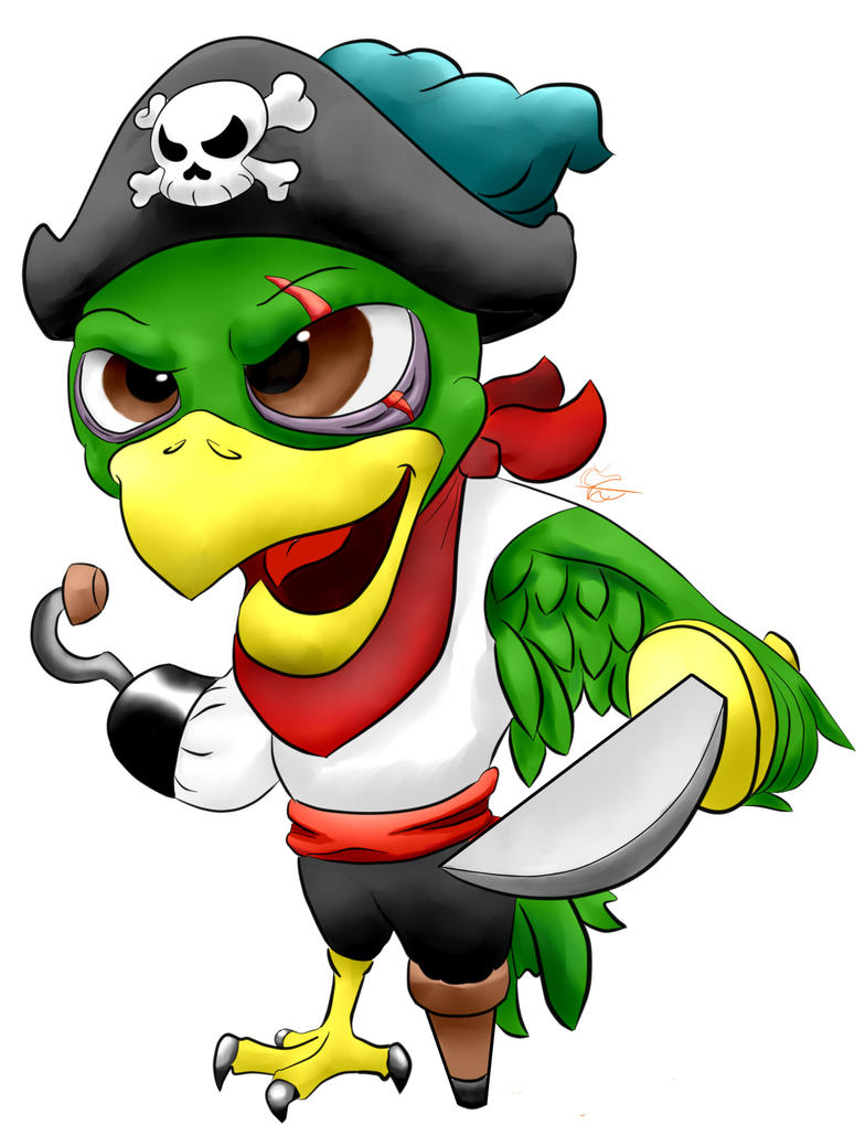 pirate parrot by midnighthuntingwolf on deviantart