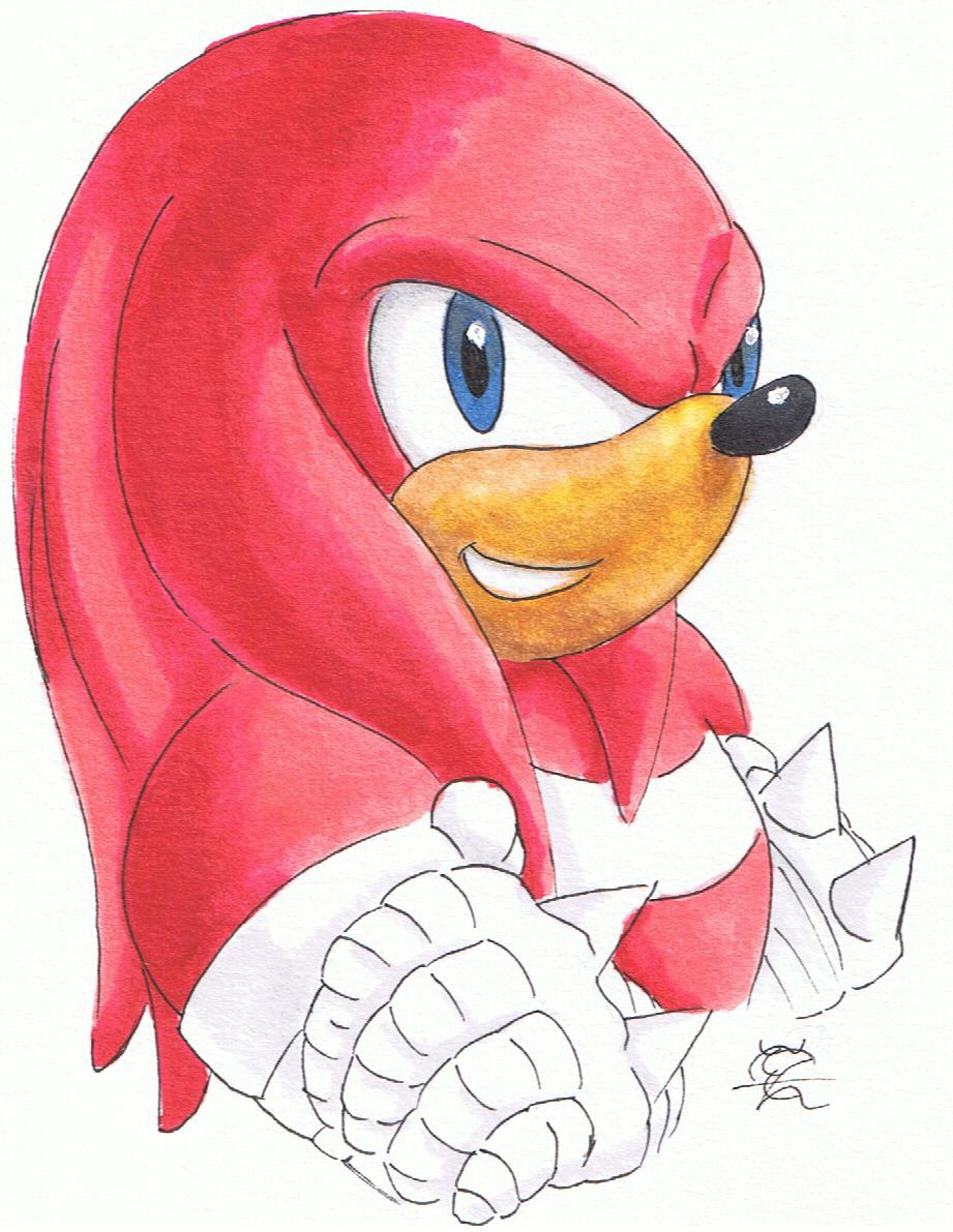 Daily Drawing Day 31 Knuckles The Echidna By