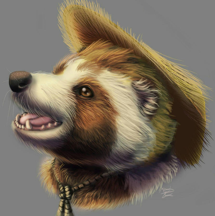 Daily Drawing Day 417 Tanuki by MidnightHuntingWolf