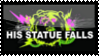 His Statue Falls Stamp by darkdissolution