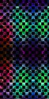 Checkered Rainbow Fractal [Custom Box BG] by darkdissolution