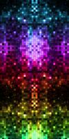 Rainbow Pexils ]}With Stars{[ by darkdissolution