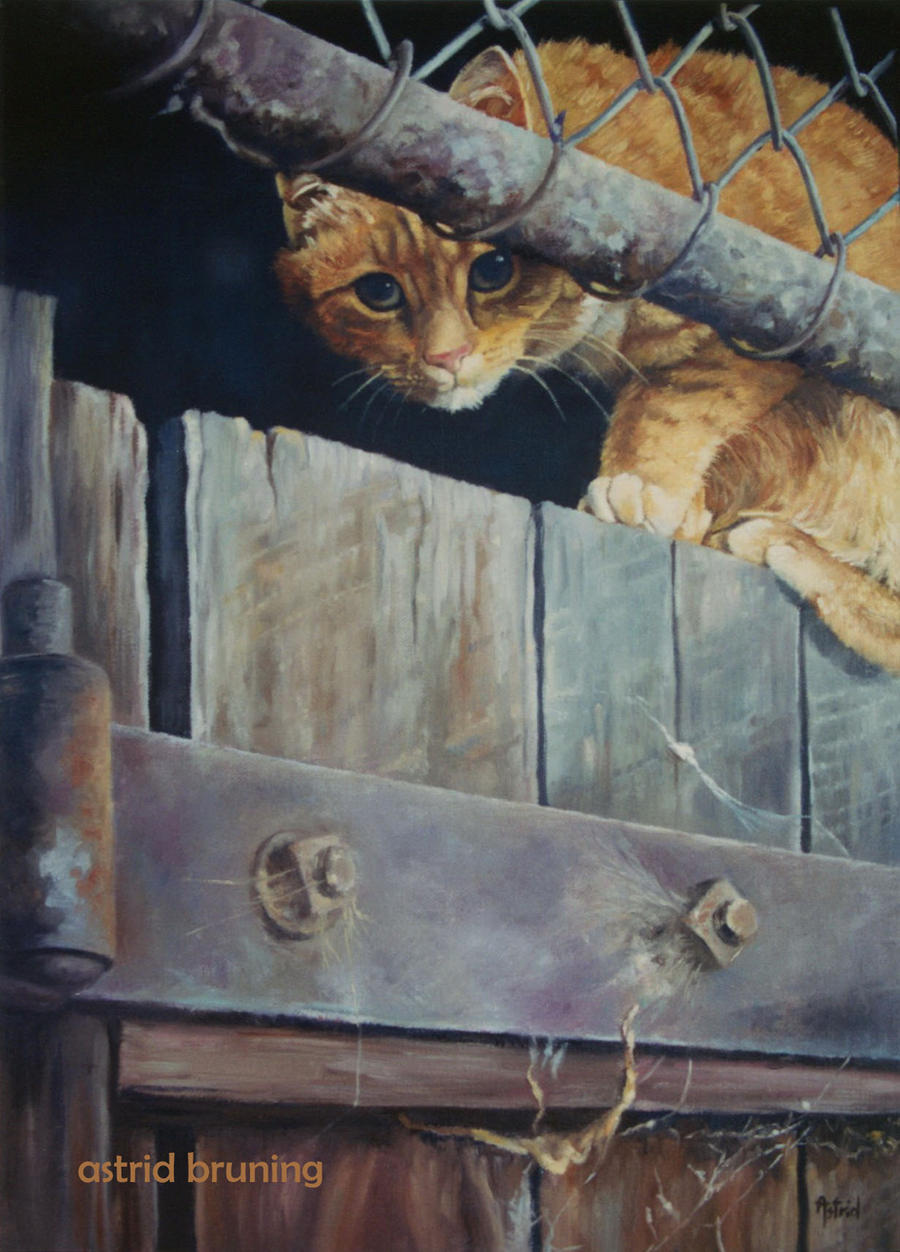 Suspicious - Oil Painting by AstridBruning