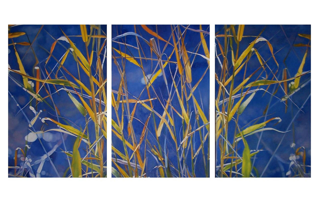 Water Weeds -Triptych  - OIL PAINTING by AstridBruning