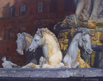 Neptunes Horses - Florence- Oil Painting