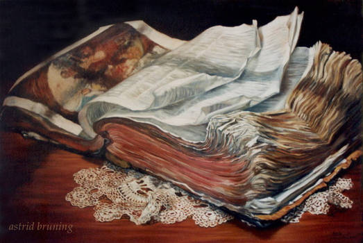 The Book of all Books- OIL PAINTING
