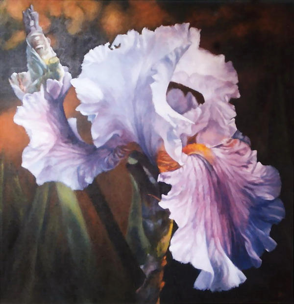 iris 40x40 inch oil painting by astridbruning on deviantart