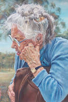 Reminiscing- Painting detail 2 by AstridBruning