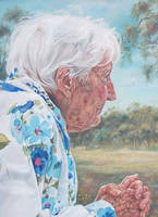 Reminiscing -Painting detail 1 by AstridBruning