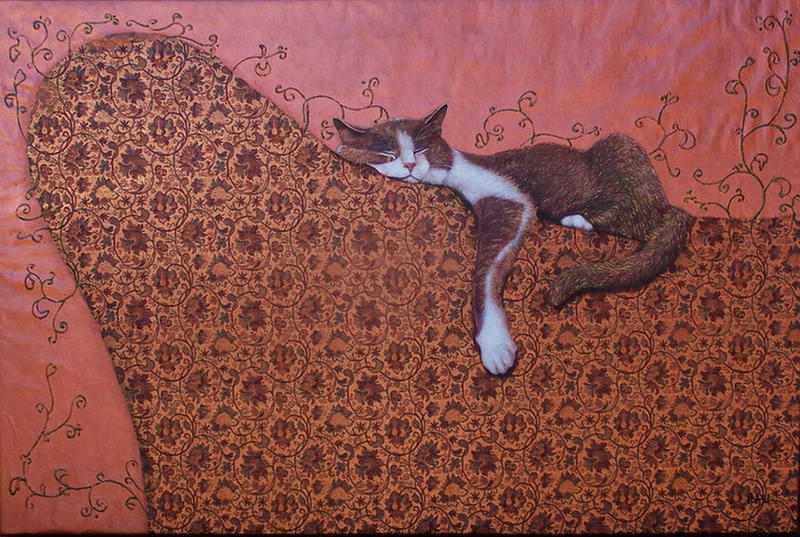 Matisse Lounging  - 36x24inch by AstridBruning