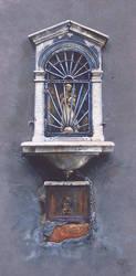 Venetian Shrine - Oil Painting by AstridBruning