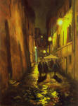 Back Streets of Rome -Painting