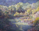 Darmouth River-Australia - Oil Painting