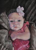 Chloe - Pastel Painting by AstridBruning