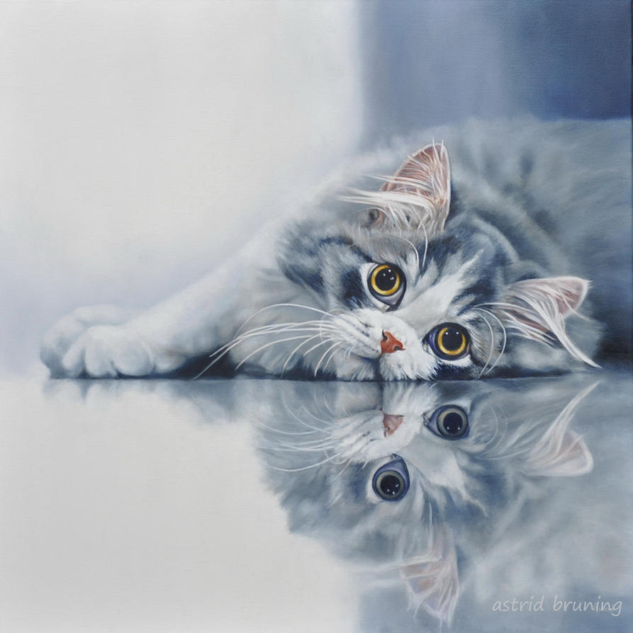 Kenzo oil painting by astridbruning on deviantart for Cat paintings on canvas
