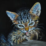Grooming - Miniature OIL PAINTING
