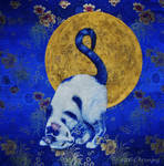 Blue Moon - Acrylic Painting