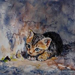 Alone - Watercolour